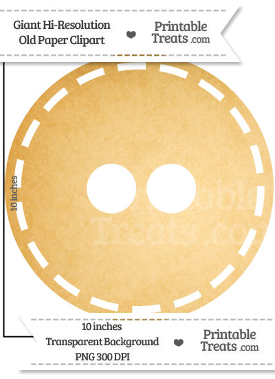 Old Paper Giant Button Clipart from PrintableTreats.com