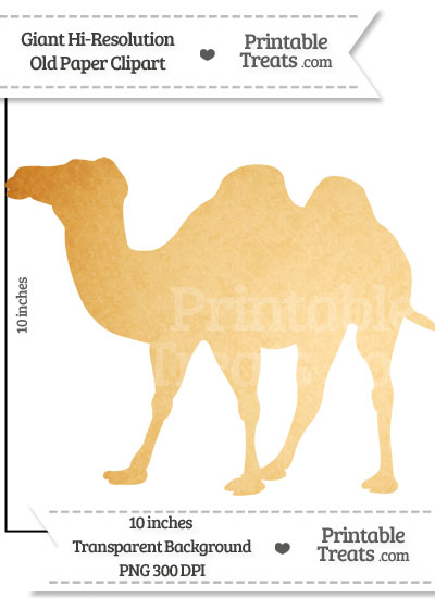Old Paper Giant Camel Clipart from PrintableTreats.com