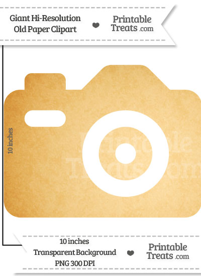 Old Paper Giant Camera Clipart from PrintableTreats.com