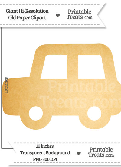 Old Paper Giant Car Clipart from PrintableTreats.com