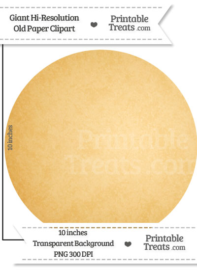 Old Paper Giant Circle Clipart from PrintableTreats.com