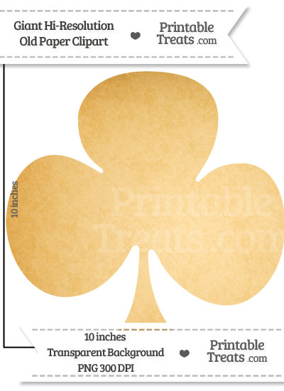 Old Paper Giant Club Card Symbol Clipart from PrintableTreats.com