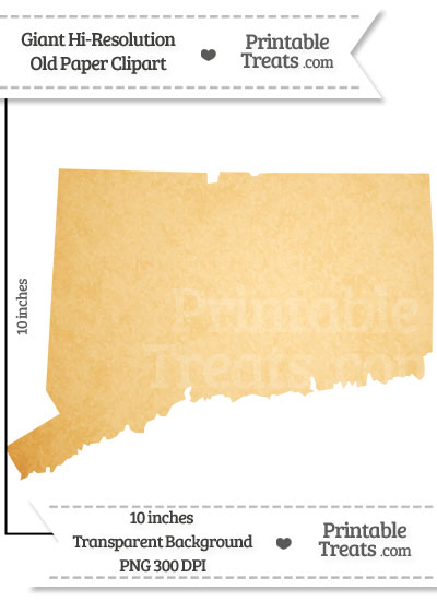 Old Paper Giant Connecticut State Clipart from PrintableTreats.com
