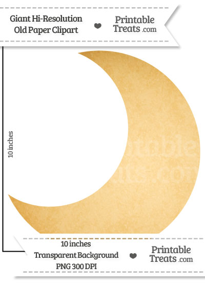 Old Paper Giant Crescent Moon Clipart from PrintableTreats.com