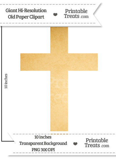 Old Paper Giant Cross Clipart from PrintableTreats.com