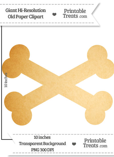 Old Paper Giant Crossbones Clipart from PrintableTreats.com