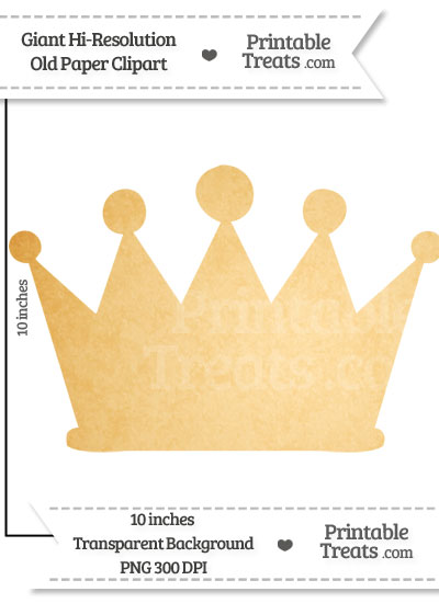 Old Paper Giant Crown Clipart from PrintableTreats.com