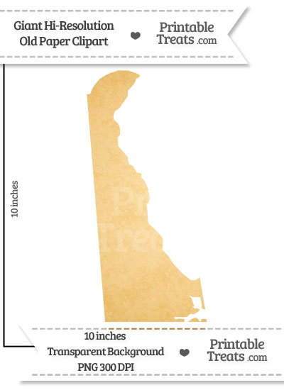 Old Paper Giant Delaware State Clipart from PrintableTreats.com