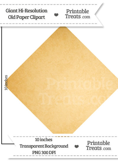 Old Paper Giant Diamond Card Symbol Clipart from PrintableTreats.com
