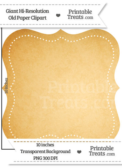 Old Paper Giant Dotted Fancy Label Clipart from PrintableTreats.com