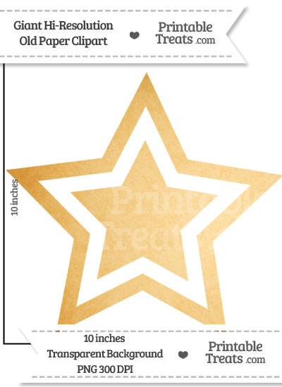 Old Paper Giant Double Star Clipart from PrintableTreats.com
