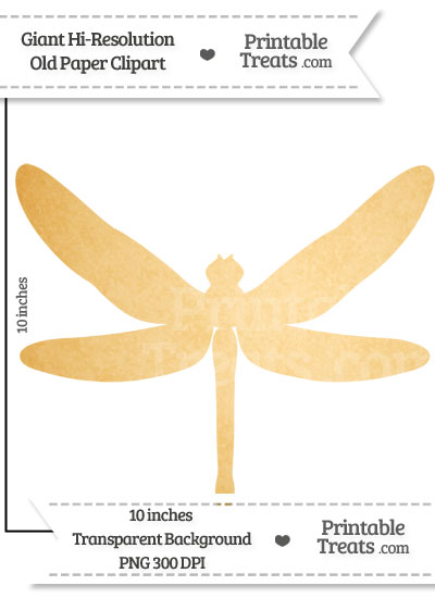 Old Paper Giant Dragonfly Clipart from PrintableTreats.com