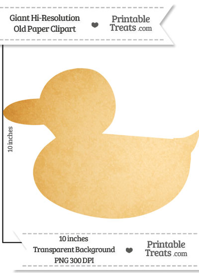 Old Paper Giant Duckling Clipart from PrintableTreats.com