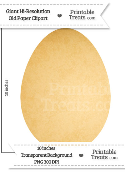 Old Paper Giant Egg Clipart from PrintableTreats.com