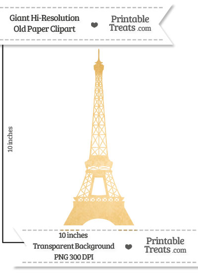 Old Paper Giant Eiffel Tower Clipart from PrintableTreats.com