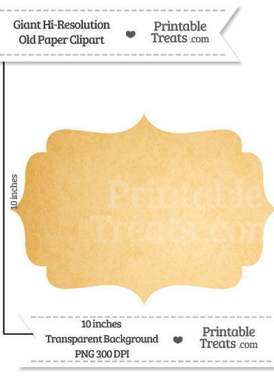 Old Paper Giant Fancy Label Clipart from PrintableTreats.com
