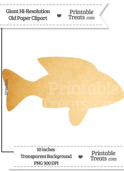 Old Paper Giant Fish Clipart from PrintableTreats.com