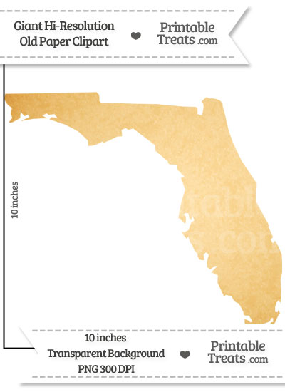 Old Paper Giant Florida State Clipart from PrintableTreats.com