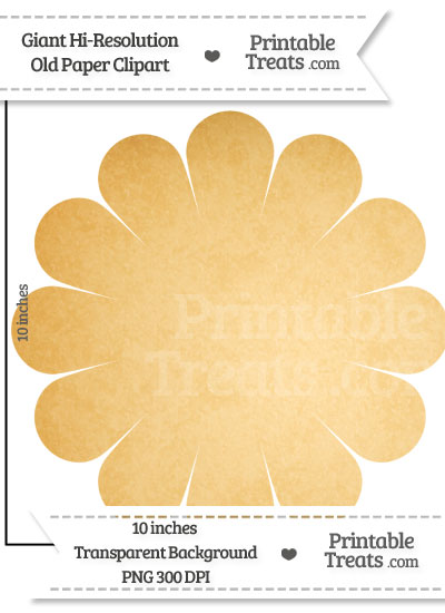 Old Paper Giant Flower Clipart from PrintableTreats.com