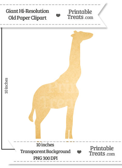 Old Paper Giant Giraffe Clipart from PrintableTreats.com