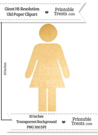 Old Paper Giant Girl Pictograph Clipart from PrintableTreats.com