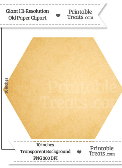 Old Paper Giant Hexagon Clipart from PrintableTreats.com