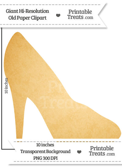 Old Paper Giant High Heel Clipart from PrintableTreats.com