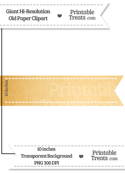 Old Paper Giant Horizontal Stitched Ribbon Clipart from PrintableTreats.com