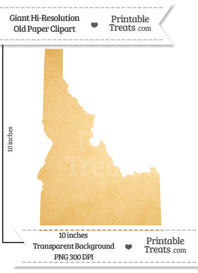 Old Paper Giant Idaho State Clipart from PrintableTreats.com