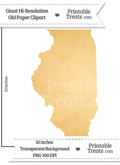 Old Paper Giant Illinois State Clipart from PrintableTreats.com