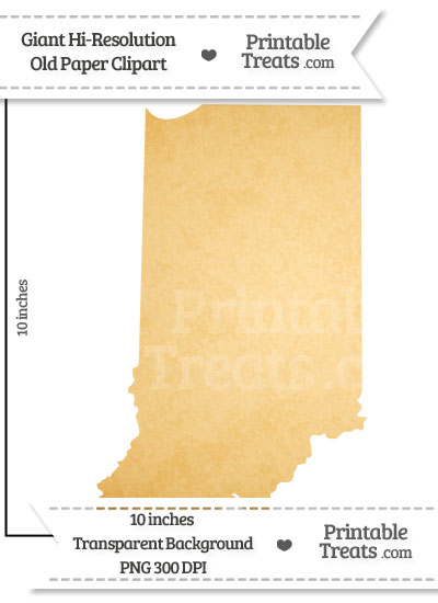Old Paper Giant Indiana State Clipart from PrintableTreats.com