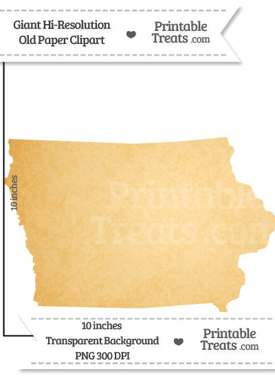 Old Paper Giant Iowa State Clipart from PrintableTreats.com