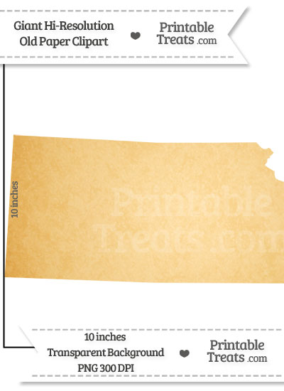 Old Paper Giant Kansas State Clipart from PrintableTreats.com