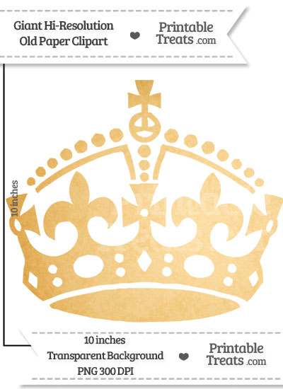 Old Paper Giant Keep Calm Crown Clipart from PrintableTreats.com