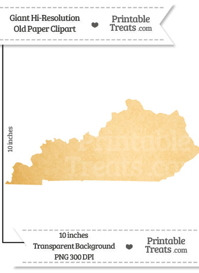Old Paper Giant Kentucky State Clipart from PrintableTreats.com
