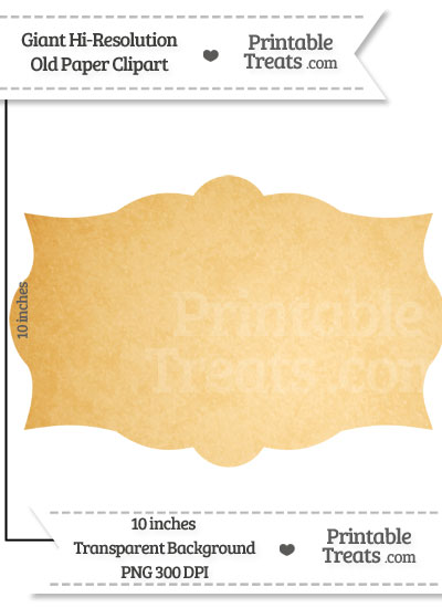 Old Paper Giant Label Clipart from PrintableTreats.com