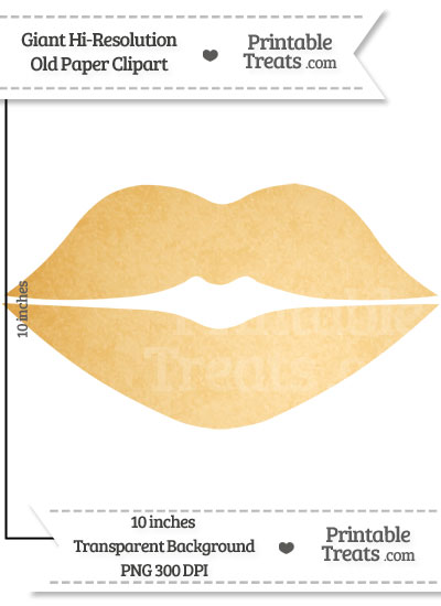 Old Paper Giant Lips Clipart from PrintableTreats.com