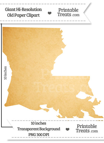 Old Paper Giant Louisiana State Clipart from PrintableTreats.com