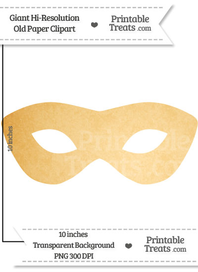 Old Paper Giant Masquerade Mask Clipart from PrintableTreats.com