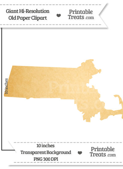 Old Paper Giant Massachusetts State Clipart from PrintableTreats.com