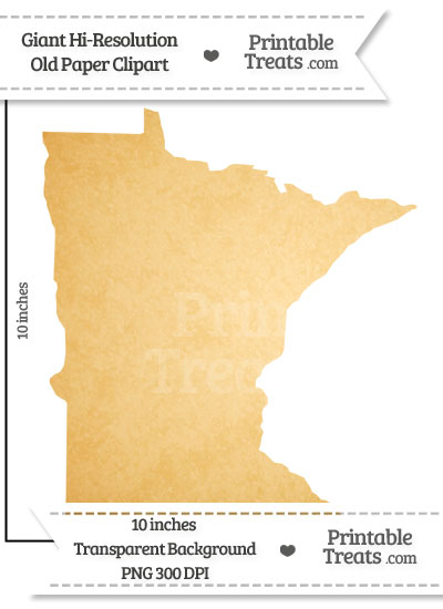 Old Paper Giant Minnesota State Clipart from PrintableTreats.com