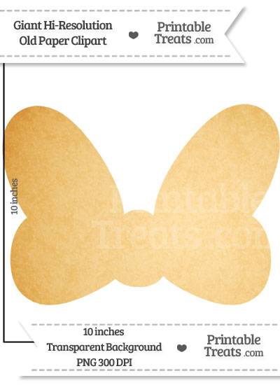 Old Paper Giant Minnie Mouse Bow Clipart from PrintableTreats.com