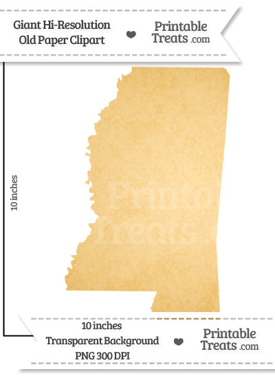 Old Paper Giant Mississippi State Clipart from PrintableTreats.com