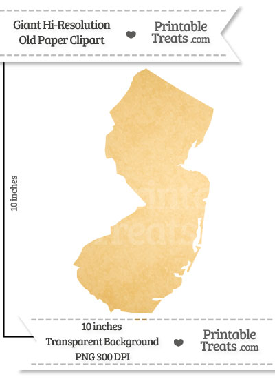 Old Paper Giant New Jersey State Clipart from PrintableTreats.com