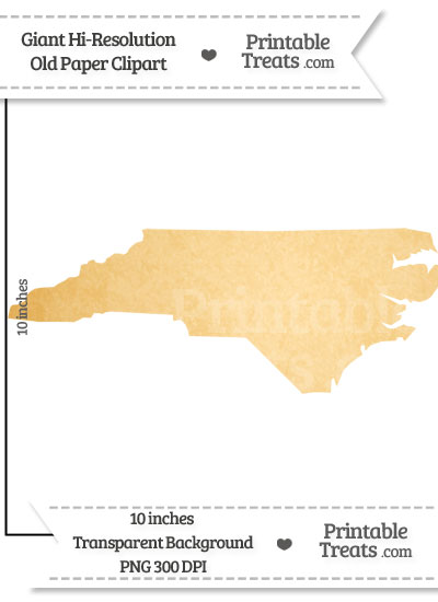 Old Paper Giant North Carolina State Clipart from PrintableTreats.com