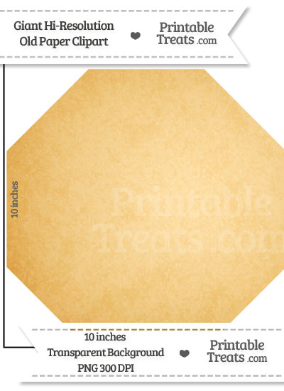 Old Paper Giant Octagon Clipart from PrintableTreats.com
