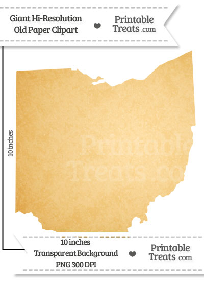 Old Paper Giant Ohio State Clipart from PrintableTreats.com