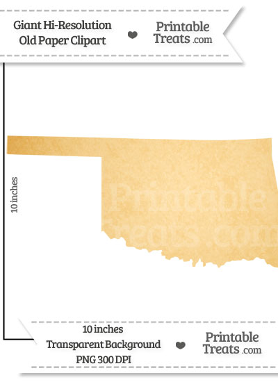Old Paper Giant Oklahoma State Clipart from PrintableTreats.com