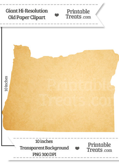 Old Paper Giant Oregon State Clipart from PrintableTreats.com