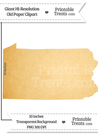 Old Paper Giant Pennsylvania State Clipart from PrintableTreats.com